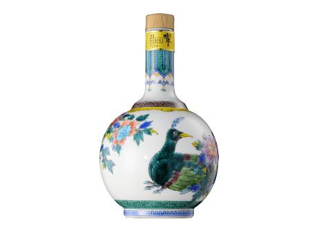 サントリーウイスキー 響21年 九谷焼 色絵華王瑞鳥文瓶