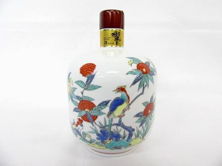サントリーウイスキー 響21年 有田焼 色絵花鳥文瓶 2005