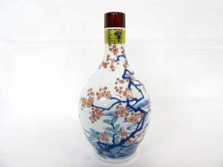 サントリーウイスキー 響21年 有田焼 色絵梅流水文瓶 2006