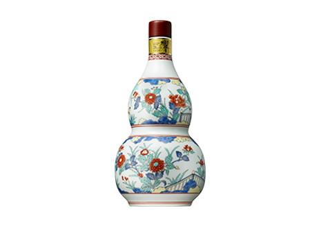 サントリーウイスキー 響21年 有田焼 色絵牡丹文瓢箪形瓶