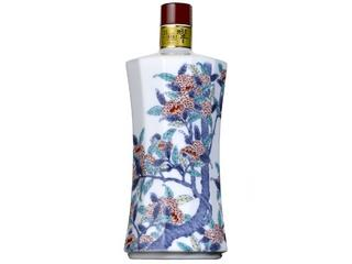 サントリーウイスキー 響21年 有田焼 色絵栗樹文十二角瓶