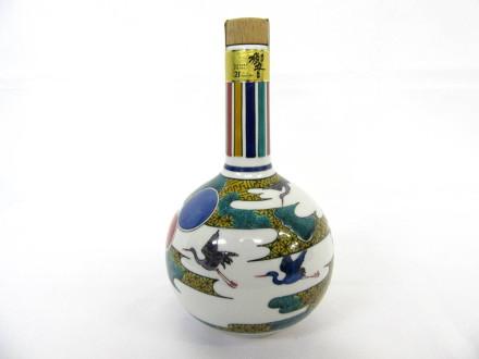 サントリーウイスキー 響21年 九谷焼 色絵霞鶴文下蕪形瓶 2005
