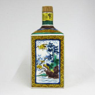 サントリーウイスキー 響21年 九谷焼 吉田屋風松竹梅文四角瓶 2008
