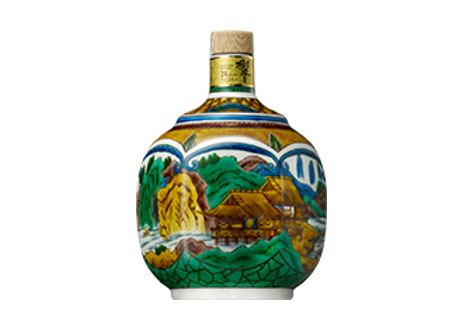 サントリーウイスキー 響21年 九谷焼 吉田屋風山水図六角瓶 2007