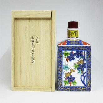 サントリーウイスキー 響21年 有田焼 金襴手花卉文角瓶