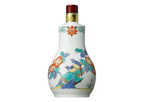 サントリーウイスキー 響21年 有田焼 色絵花鳥文茶筅形瓶 2004