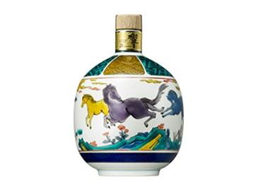 サントリーウイスキー 響21年 九谷焼 古九谷風駿馬文瓶 2001