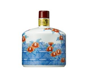 サントリーウイスキー 響21年 有田焼 色絵椿柴垣文筒形瓶