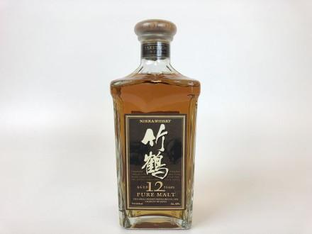京都府八幡市のお客様から竹鶴12年ピュアモルト角瓶を買取させて頂きました。