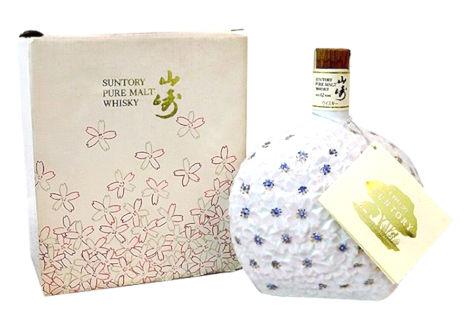 サントリーピュアモルト 山崎12年 花の万博 記念ボトル 桜陶器