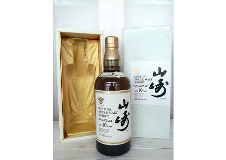 栃木県下野市のお客様からシングルモルト山崎10年を宅配買取させて頂きました。