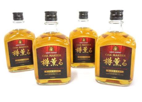 大阪府交野市のお客様からキリン富士御殿場蒸溜所 オークマスター樽薫るを4本買取させて頂きました。