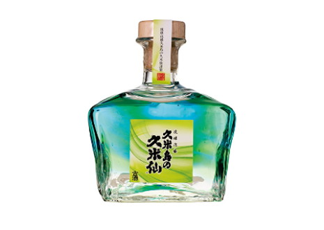琉球泡盛 久米島の久米仙 びーどろガラス 緑