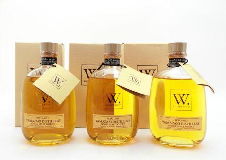 大阪府摂津市よりウイスキーショップW山崎WSO007を3本宅配買取いたしました。
