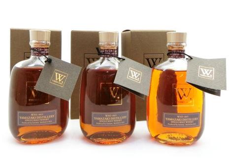滋賀県大津市のお客様からウイスキーショップW山崎WSO009を3本出張買取させて頂きました。