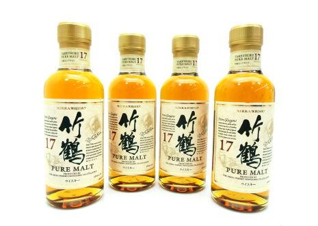 埼玉県和光市のお客様から竹鶴17年ベビーボトル4本を宅配買取させて頂きました。