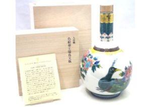 大阪市西区のお客様から響21年九谷焼・色絵華王瑞鳥文瓶を買取させて頂きました。