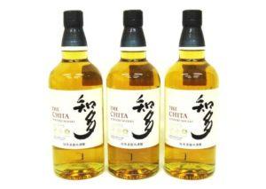 大阪府箕面市よりサントリー知多シングルグレーンウイスキー3本を買取させて頂きました。